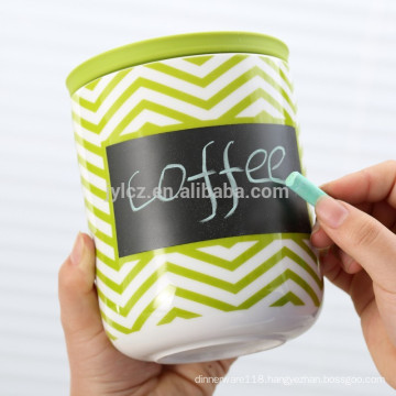 ceramic storage canister with silicone lid,