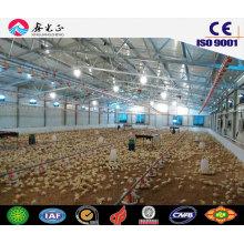 Granja de pollo de Prefab / estructura de acero Casa de pollos con equipos (JW-16252)