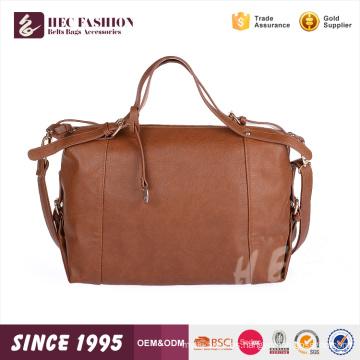 Logotipo HEC Impreso Moda Lona PU Material Portátil Señoras 1 tonelada bolsas