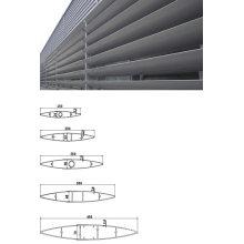 Nouvelle conception Aluminium Airfoil Louvers