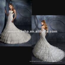 Vestido de casamento Organza Exquiste Beadings