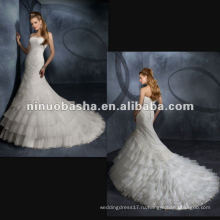 Органза, Изысканные Beadings Свадебное Платье