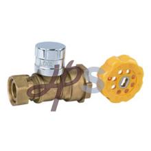 Fábrica de válvula de bola bloqueable de latón de forja para el mercado de Europa