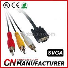 Cabo de Componente VGA a 3 RCA