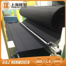 schwarzer Kohlefaser Spunlace Vliesstoff schwarz Kohle Vliesstoff