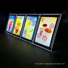 Wholesale A4 Stand Illuminated Acrylic Frame, Acrylic Advertising Display
