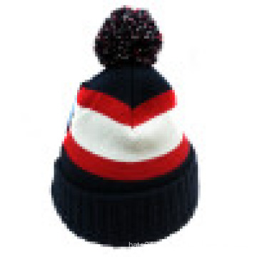Knitted Beanie with POM POM on The Top NTD31