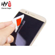 Rectangular microfiber smart phone screen sticky cleaner with card