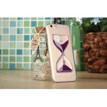 Роскошь прозрачный жидкость зыбучие пески Хоппер воронка Крышка телефона Чехол для Яблока iPhone 6с