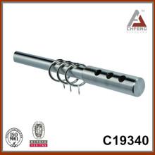C19340 hierro mordern acabados de la barra de la cortina del cromo, accesorios de la barra de la cortina de la decoración casera