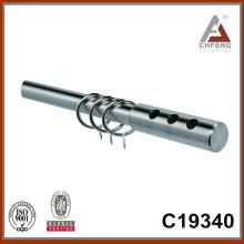 C19340 iron mordern chrome curtain rod finials,home decor curtain rod accessories
