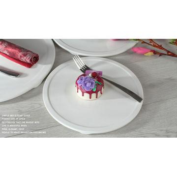 2016 nuevo estilo Haonai buena calidad placa de cerámica de la torta, placa de cerámica de postre