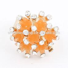 Anel de diamante mais recente do diamante da forma do anel CZ da forma