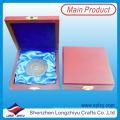 Exquisite Zink-Legierung Silber überzogene Souvenir-Samt-Kasten-Münze