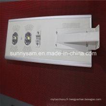 Réverbère solaire intégré de capteur de mouvement imperméable de LED
