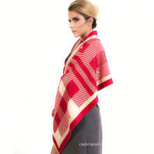 2017 factory direct sale low price elegant fall and winter red printd cashmere scarf
