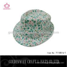 Filles Fedora Chapeaux Motif floral beaux chapeaux de soleil d'été pour la conception personnalisée de dame