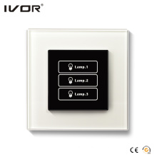 3 Gangs Lighting Switch Touch Panel Glass Outline Frame (HR1000-GL-L3)
