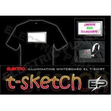 [Super Deal] Atacado 2009 moda quente venda T-shirt A28, el t-shirt, camisa led