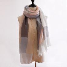 Леди мода Цвет блока хлопок Шелковый шарф (YKY1145)