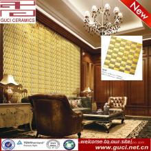 China fornecimento de parede de fundo vivo Mosaicos de ouro