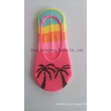 2017 del resorte caliente venta moda Lady Low Cut No mostrar línea Invisible calcetines