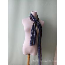 Neue Chromatische Streifen Chiffon Crushed Schal Krawatten