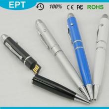 Laser-Taschenlampe Kugelschreiber Form USB-Flash-Laufwerk (TP021)