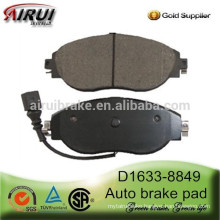 D1633-8849 semi-metallic and ceramic front brake pad for A3 S3 LEON OCTAVIA ALHAMBRA