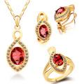 Набор ювелирных изделий из серебряного кольца и подвесок из золотой тарелки 925