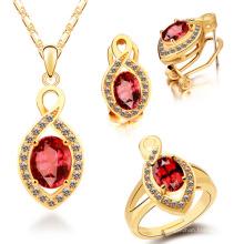 Ensemble de bijoux en or et pendentif en or plat 925
