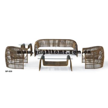 Round Rattan Wicker Outdoor Sofa Set Garden Furniture Bp-859