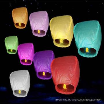 Lanterne thaïlandaise promotionnelle et traditionnelle avec papier ignifuge et ignifuge