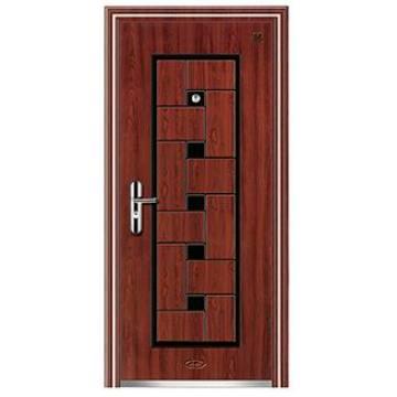 Puerta de acero de puerta de seguridad barata y alta calidad