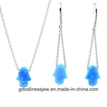 Conjunto de joyería con coloridos Opala Hamsah conjunto de moda S3136