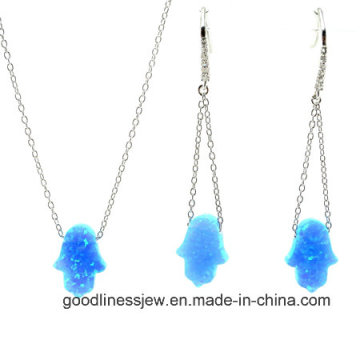 Jewelry Set with Colorful Opal Hamsah Set Fashion S3136