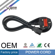 SIPU stranded copper PVC 6.8mm O.D black ac uk power cord