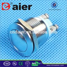 Interruptor de botón a prueba de agua interruptor antivandalismo Daier 19 mm
