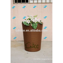 high quality PE larger outdoor garden rattan vase