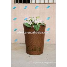 De alta qualidade PE maior vaso de jardim ao ar livre rattan