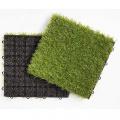 interlocking artificial grass turf tile in size of 300*300*22 for outdoor garden diy tile