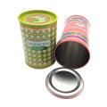 Runde Blechdose Canning Lebensmittel Verpackung Box Zinn
