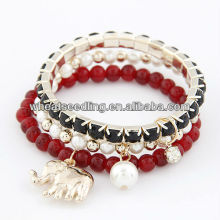 2013 Fashionable Multilayer Braclet With Elephant Charm 10072562