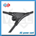 Hot sale UL CUL approval y splitter power cord with two female end