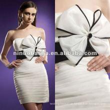 Corpete sem alças sem alças com vestido de noiva de bowknot