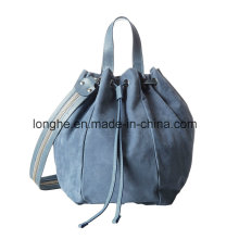 New Winter Drawstring Closure Ladies Bucket Handbag (ZXS0107)