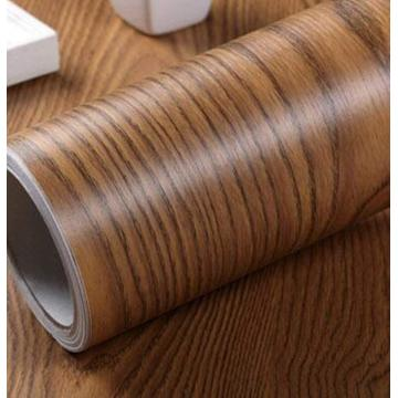PVC wood grain vinyl film for Kitchen cabinet