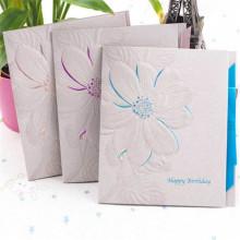 Tarjeta de felicitación de papel de impresión en offset de lujo Impresión en relieve de las tarjetas
