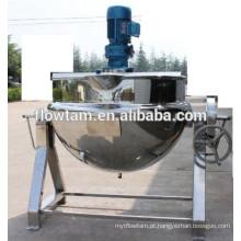 Misturador duplo aquecimento de vapor inclinação chaleira de cozinha