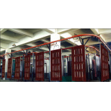 Security Door Shutter Spray Powder Coating Line